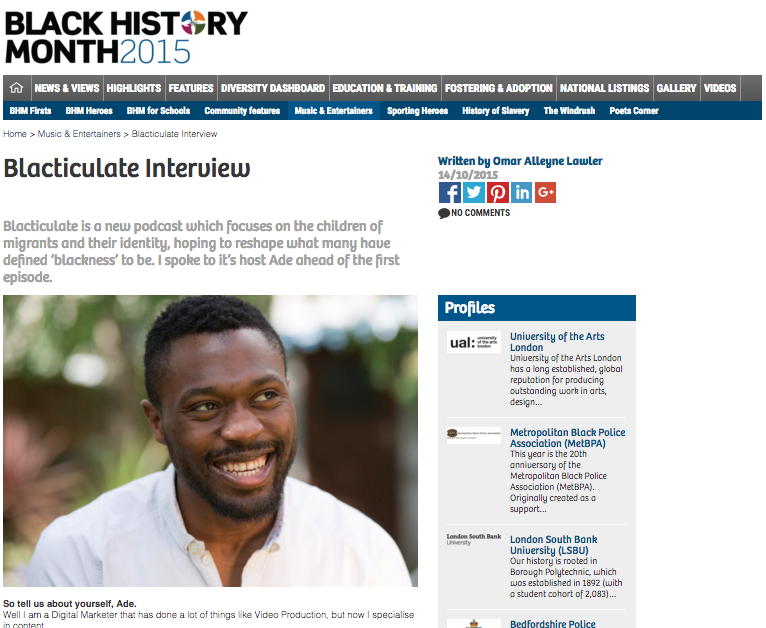 Black History Month press