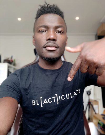 GadgetsBoy in a Blacticulate T-shirt